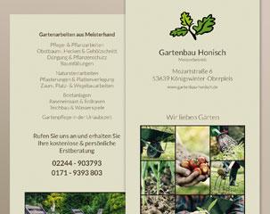 Flyer Gartenbau Peter Honisch