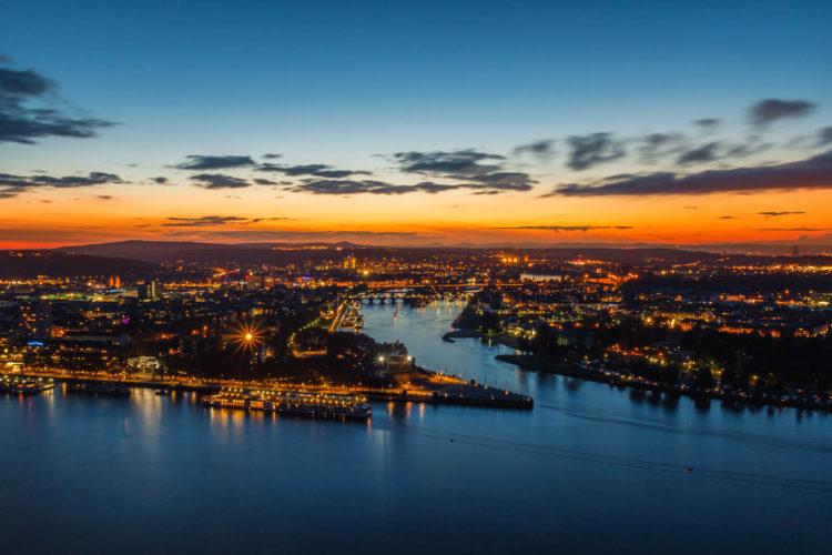 Deutsches Eck, Koblenz, Deutschland