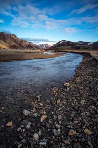 Flussbett, Landmannalaugar, Island